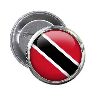Trinidad And Tobago Flag Glass Ball 6 Cm Round Badge
