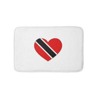 Trinidad and Tobago Flag Heart Bath Mats
