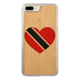 Trinidad and Tobago Flag Heart Carved iPhone 8 Plus/7 Plus Case