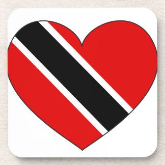 Trinidad and Tobago Flag Heart Coaster