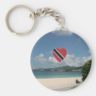 Trinidad and Tobago Flag Key Ring