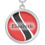 Trinidad and Tobago Flag + Name Necklace