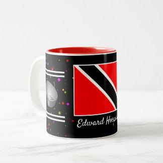 Trinidad and Tobago Flag & Steelpan (Your Name) Two-Tone Coffee Mug