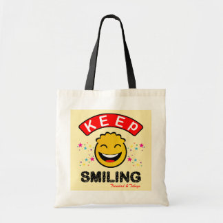 Trinidad and Tobago Keep Smiling Yellow Smiley Tote Bag