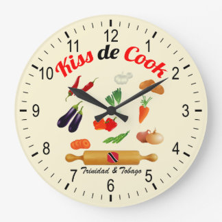 Trinidad and Tobago Kiss The Cook Food Clocks