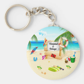 Trinidad and Tobago Maracas Beach Basic Round Button Key Ring