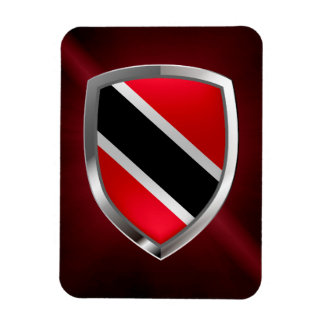 Trinidad and Tobago Metallic Emblem Magnet