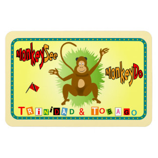 Trinidad and Tobago Monkey See Monkey Do Magnet