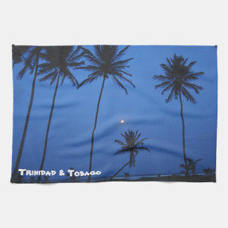 Trinidad And Tobago Nightfall At Cocal Manzanilla Tea Towel