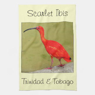 Trinidad and Tobago Red Scarlet Ibis Tea Towel