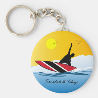 Trinidad and Tobago Toco Surfing Key Ring