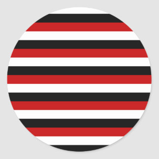 Trinidad and Tobago Yemen flag stripes Classic Round Sticker