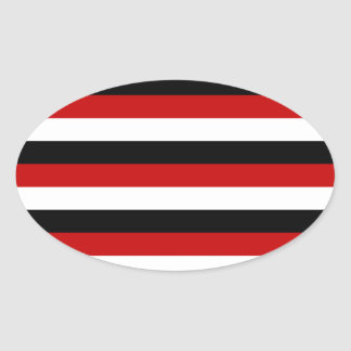 Trinidad and Tobago Yemen flag stripes Oval Sticker
