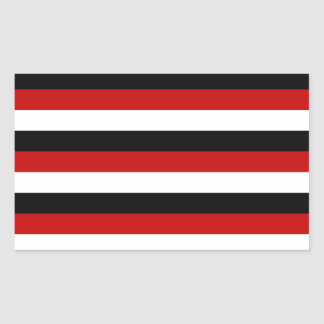 Trinidad and Tobago Yemen flag stripes Rectangular Sticker