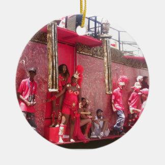 Trinidad Carnival Round Ceramic Decoration