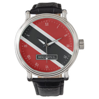 Trinidad Flag Custom Name Watch