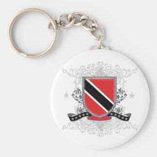 Trinidad Shield Basic Round Button Key Ring