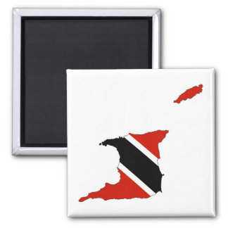 trinidad tobago country flag map magnet