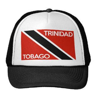 trinidad tobago country flag text name cap