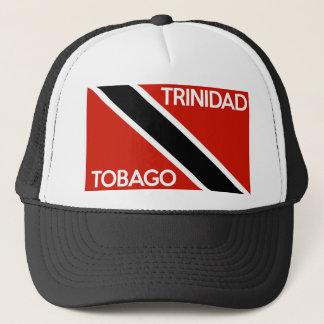 trinidad tobago country flag text name trucker hat