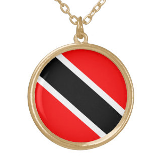 Trinidad & Tobago Flag Gold Plated Necklace