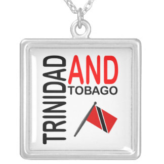 Trinidad & Tobago Flag Silver Plated Necklace
