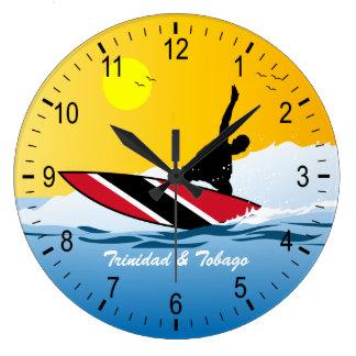 Trinidad & Tobago Surfer Large Clock