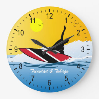 Trinidad & Tobago Surfer Wallclocks