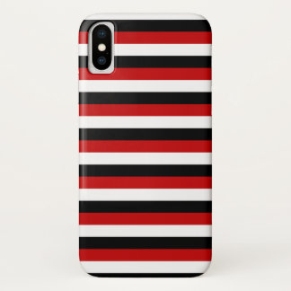 Trinidad Tobago Yemen flag stripes lines pattern iPhone X Case