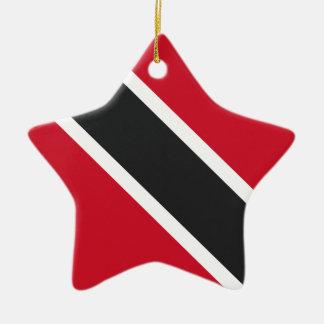 Trinidadtobago flag ceramic ornament
