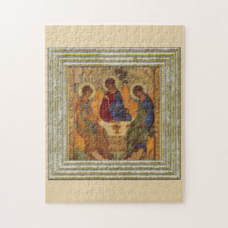 Trinity Angels At Mamre Jigsaw Puzzle