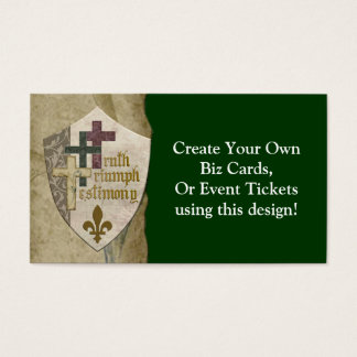 Trinity Christian Shield - Create Your Own Cards