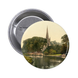 Trinity Church I, Stratford-upon-Avon, England 6 Cm Round Badge
