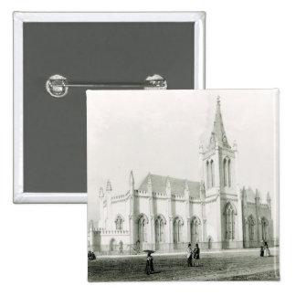 Trinity church, Port of Spain 15 Cm Square Badge