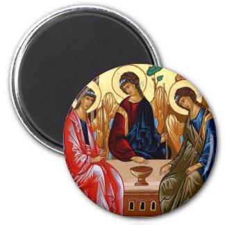 Trinity Icon 6 Cm Round Magnet