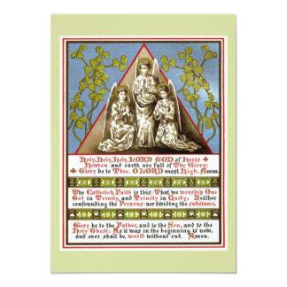 Trinity In Unity 13 Cm X 18 Cm Invitation Card