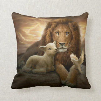 """Trinity of Peace"" polyester throw pillow"
