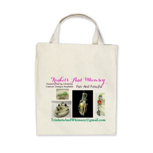 Trinkets And Whimsey Organic Grocery Tote Canvas Bag
