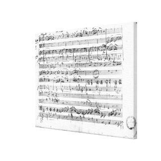Trio, in E flat major 'Kegelstatt' Canvas Print