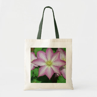 Trio of Clematis Pink and White Spring Flowers Tote Bag