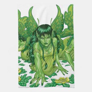 Trio of Earth Fairies or Elves by Al Rio Towel