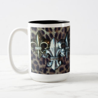 Trio of  Fleur de lis Two-Tone Coffee Mug