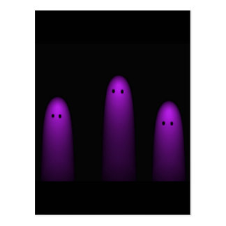 Trio of Ghosts ( Fuschia) Postcard