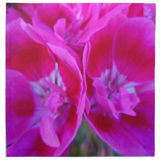 Trio of Hot Pink Geraniums Cloth Napkin