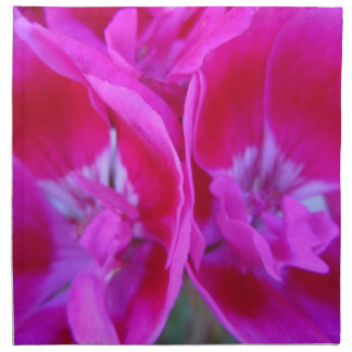 Trio of Hot Pink Geraniums Cloth Napkins