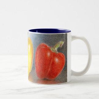 Trio of Peppers Art  Mug