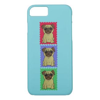 Trio Of Pugs Cute Colorful Iphone Case