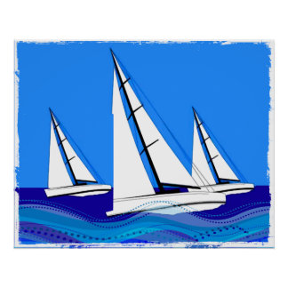 Trio of Sailboats Posters