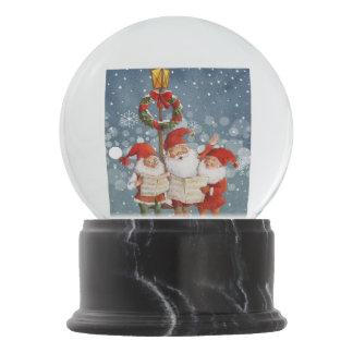 Trio of Singing Elves Snow Globe