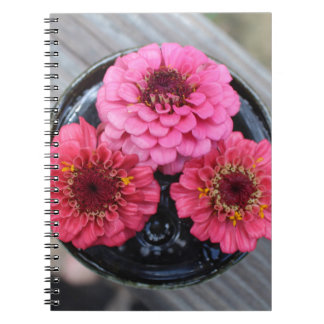 Trio of Zinnias Spiral Notebook
